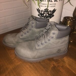 Timberland Little Kids Gray Waterproof Boots SZ 2